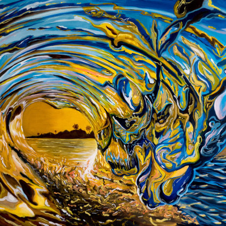 crashing wave painting
