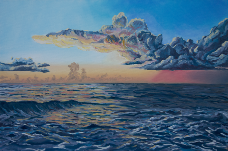 ocean sunrise painting